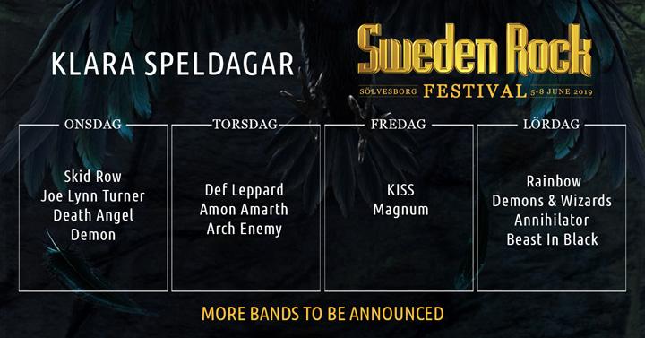 vinn biljetter till sweden rock 2019
